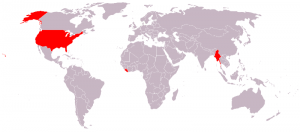 Countries that don\'t use the metric system.